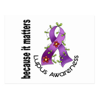 Lupus Flower Ribbon 3 Postcard