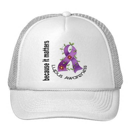 Lupus Flower Ribbon 3 Trucker Hat