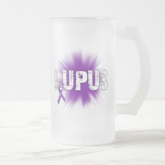 Lupus Frosted Glass Beer Mug