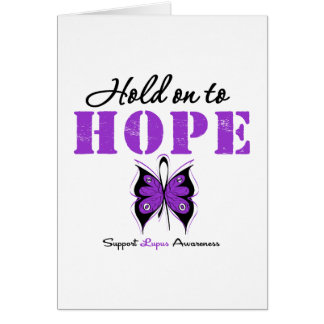 Lupus Hold On To Hope Card