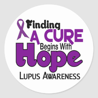 Lupus HOPE 5 Classic Round Sticker