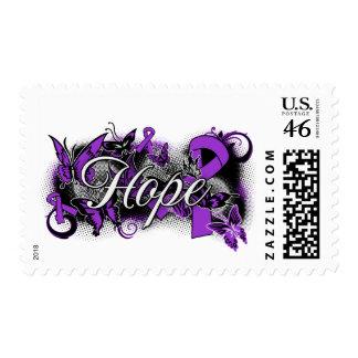 Lupus Hope Garden Ribbon Stamp