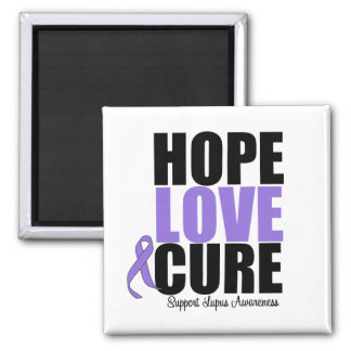 Lupus Hope Love Cure 2 Inch Square Magnet