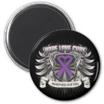 Lupus Hope Love Cure Refrigerator Magnets