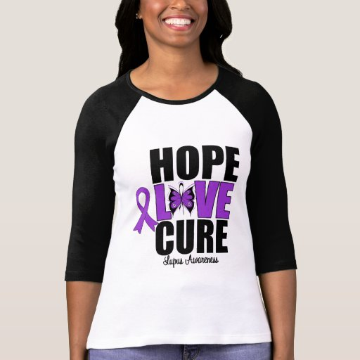 Lupus Hope Love Cure T Shirts