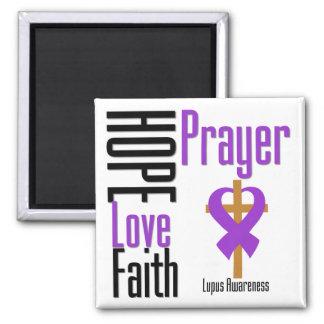 Lupus Hope Love Faith Prayer Cross Fridge Magnets