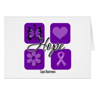Lupus Hope Love Inspire Awareness Greeting Card