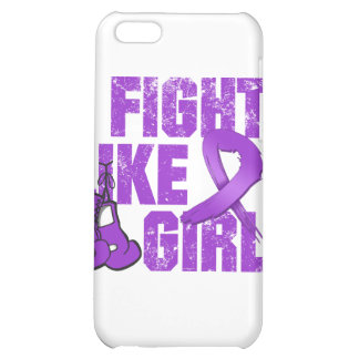 Lupus I Fight Like A Girl (Grunge) Cover For iPhone 5C