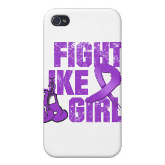 Lupus I Fight Like A Girl (Grunge) iPhone 4/4S Case