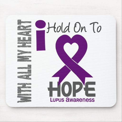 Lupus I Hold On To Hope Mouse Pad