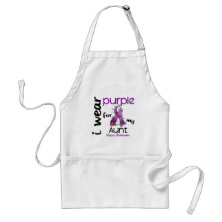 Lupus I WEAR PURPLE FOR MY AUNT 43 Adult Apron