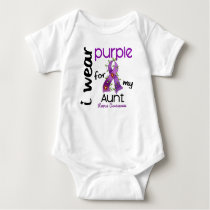 Lupus I WEAR PURPLE FOR MY AUNT 43 Baby Bodysuit