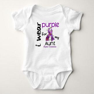 Lupus I WEAR PURPLE FOR MY AUNT 43 Baby Bodysuit