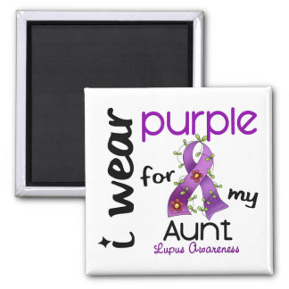 Lupus I WEAR PURPLE FOR MY AUNT 43 Refrigerator Magnet