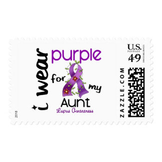 Lupus I WEAR PURPLE FOR MY AUNT 43 Stamps