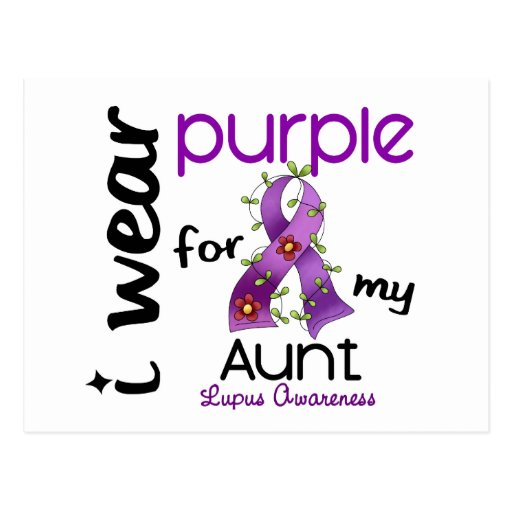 Lupus I WEAR PURPLE FOR MY AUNT 43 Postcard