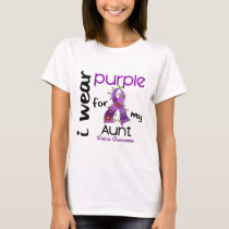 Lupus I WEAR PURPLE FOR MY AUNT 43 T-Shirt