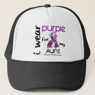 Lupus I WEAR PURPLE FOR MY AUNT 43 Trucker Hat