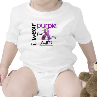 Lupus I WEAR PURPLE FOR MY AUNT 43 Baby Creeper