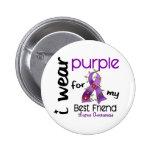 Lupus I WEAR PURPLE FOR MY BEST FRIEND 43 2 Inch Round Button