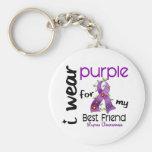 Lupus I WEAR PURPLE FOR MY BEST FRIEND 43 Basic Round Button Keychain