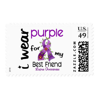 Lupus I WEAR PURPLE FOR MY BEST FRIEND 43 Postage Stamp