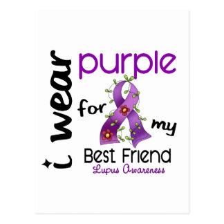 Lupus I WEAR PURPLE FOR MY BEST FRIEND 43 Postcard