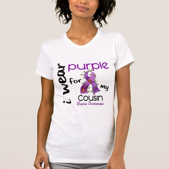 Lupus I WEAR PURPLE FOR MY COUSIN 43 T-Shirt
