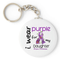 Lupus I WEAR PURPLE FOR MY DAUGHTER 43 Keychain
