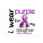 Lupus I WEAR PURPLE FOR MY DAUGHTER 43 Postcard