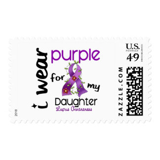 Lupus I WEAR PURPLE FOR MY DAUGHTER 43 Stamp