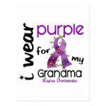 Lupus I WEAR PURPLE FOR MY GRANDMA 43 Postcard