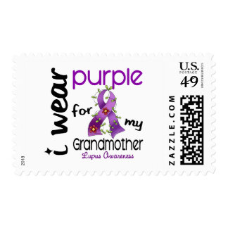 Lupus I WEAR PURPLE FOR MY GRANDMOTHER 43 Postage Stamp