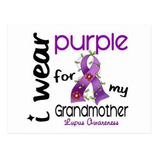 Lupus I WEAR PURPLE FOR MY GRANDMOTHER 43 Postcard