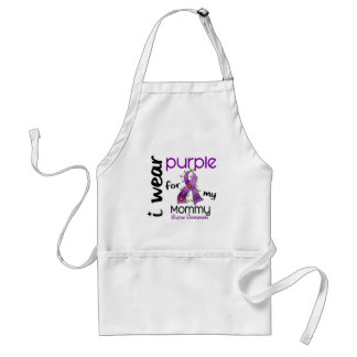 Lupus I WEAR PURPLE FOR MY MOMMY 43 Adult Apron
