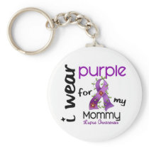 Lupus I WEAR PURPLE FOR MY MOMMY 43 Keychain