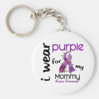 Lupus I WEAR PURPLE FOR MY MOMMY 43 Keychains