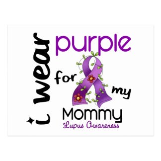 Lupus I WEAR PURPLE FOR MY MOMMY 43 Postcard