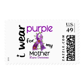 Lupus I WEAR PURPLE FOR MY MOTHER 43 Postage Stamp