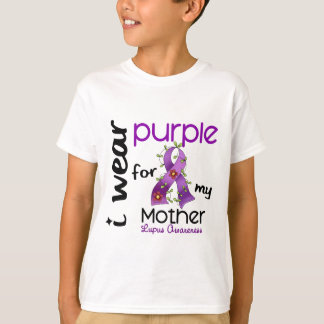 Lupus I WEAR PURPLE FOR MY MOTHER 43 T-Shirt