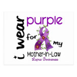 Lupus I WEAR PURPLE FOR MY MOTHER-IN-LAW 43 Postcard