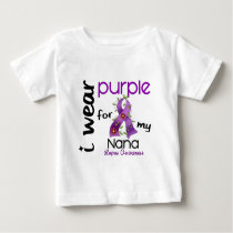 Lupus I WEAR PURPLE FOR MY NANA 43 Baby T-Shirt