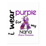 Lupus I WEAR PURPLE FOR MY NANA 43 Postcards