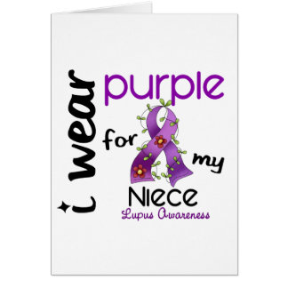 Lupus I WEAR PURPLE FOR MY NIECE 43 Greeting Card