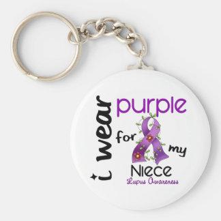 Lupus I WEAR PURPLE FOR MY NIECE 43 Keychain