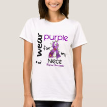 Lupus I WEAR PURPLE FOR MY NIECE 43 T-Shirt