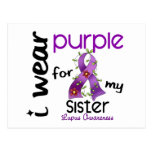 Lupus I WEAR PURPLE FOR MY SISTER 43 Postcard