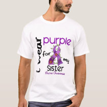 Lupus I WEAR PURPLE FOR MY SISTER 43 T-Shirt