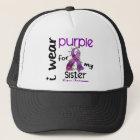 Lupus I WEAR PURPLE FOR MY SISTER 43 Trucker Hat