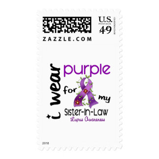 Lupus I WEAR PURPLE FOR MY SISTER-IN-LAW 43 Postage Stamps